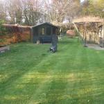 Cutting residential client grass