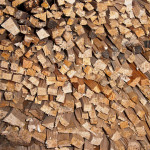 stack of wood kindling dries